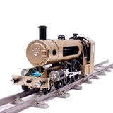Teching Engine Stoomtrein Model Met Pathway Volledige aluminiumlegering Model Gift Collection STEM-speelgoed_