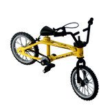 Mini Simulation Alloy Finger Bicycle Retro Double Pole Bicycle Model w/ Spare Tire Diecast Toys With Box Packaging_