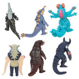 6pcs Soft  Animal Toys Joint Movable Character Child Toy Decoration Doll_