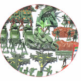 519Pcs Military Figure Play Set Soldiers Army Men 4cm Plastic Action Model Toys_