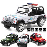 1/32 Alloy Police Car Model With Light Sound Toys For Kids Children Educational Gift_