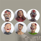 Six Set Zombie Model Terror Corpse Action Figures Model Toys For Kids Children Gift_