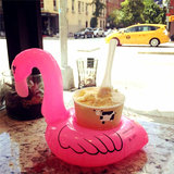 5PCS Opblaasbare Flamingo Drink Kan Houder Party Pool Home Decor Kids Toy_