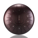 HLURU 12 Inch Mini 11 Tone Steel Tongue Drum Handpan Instrument met Drum Mallets en Tas_