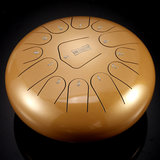 HLURU 12 '' Steel Tongue Drum Handpan 13 Notes Handtankdrum met tas en drumstick cadeau_
