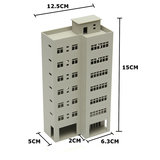 1/87 Light Gray Outland Modellen Modern Tall Business Office Building Voor Sandbox_