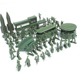 56PCS 5CM  Military Soldiers Set Kit Figures Accessories Model For Kids Children Christmas Gift Toys_