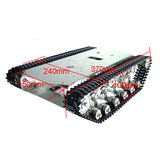 RC Robot Car Metal Tracked Tank Chassis Metal Crawler Belt With DC 350 Motor_