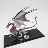 Staal Warcraft DIY 3D-puzzel Dragon Toys roestvrij staal Model Building Decor 16 * 5.3 * 14cm_