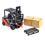 Small Internal Combustion Lifting Forklift Truck Car Model Toys For Children _