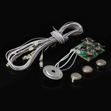 Hoomeda Voice Activated Light Dollhouse Deel Button Cell Battery Light Met Wires