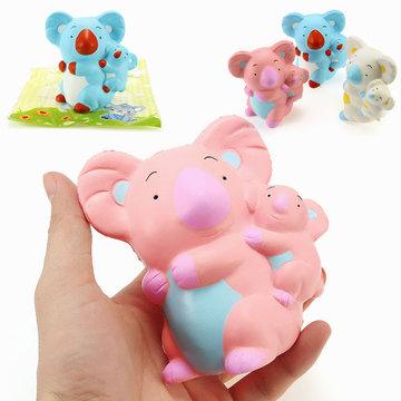 LeiLei Squishy Koala Mom Baby 10cm Slow Rising With Packaging Collection Gift Decor Soft Knijp Toy