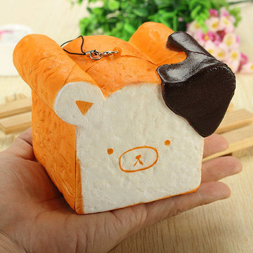 Squishy Toy 8 seconden langzaam stijgende Super Soft Cute Fragrance Reality Touch Beren Toast Bread Decor