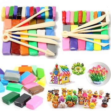 Mixed Color Soft Ovenbake Polymer Clay Block Modellering Molding Art Design