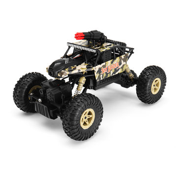 Wltoys 18428-A 1/18 2.4G 4WD Raket Rc auto met 0.3MP WIFI FPV Off-road Rock Crawler RTR speelgoed