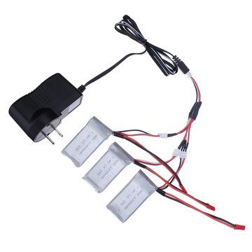 Wltoys Battery Charging Set 7.4V Charger 3×Battery Charging Cable