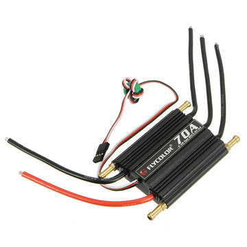 FlyColor Waterproof Brushless 70A ESC With 5.5V / 5A  2-6s BEC For RC Boat