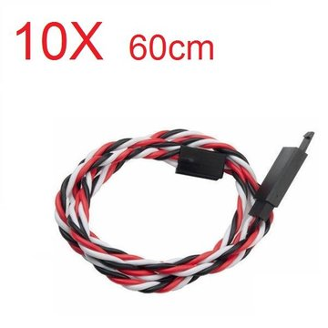 Amass 60 Core 60cm Anti-off Servo Extension Wire Cable For Futaba