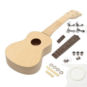 21 Inch Hand-assembled Painting Ukulele With Musical Accessories for Guitar DIY