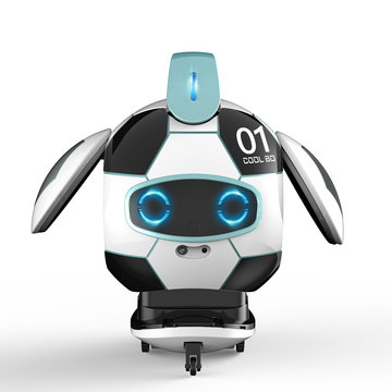 FINECO FX-J01 CoolBO Soccer Football Smart Voice Recognition Touch Control Obstacle Avoidance Sing Dance RC Robot Toy