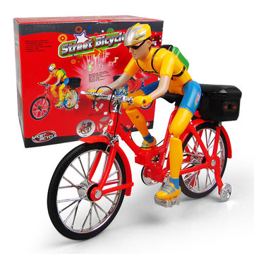 Electric  Bicycles Toy Electric Characters Children's Music Luminous Foldable Model Toys