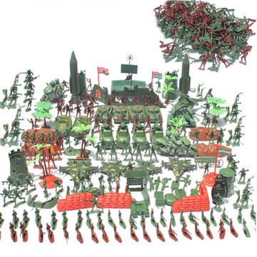 519Pcs Military Figure Play Set Soldiers Army Men 4cm Plastic Action Model Toys