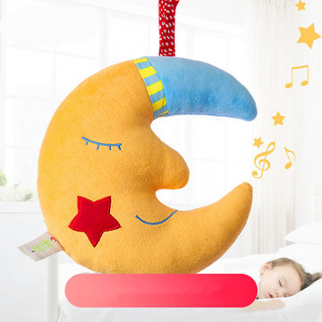 Yellow Moon Good Night Music Baby Bell Toy Kids Kinderen Gift Room Decoration Gevulde knuffels