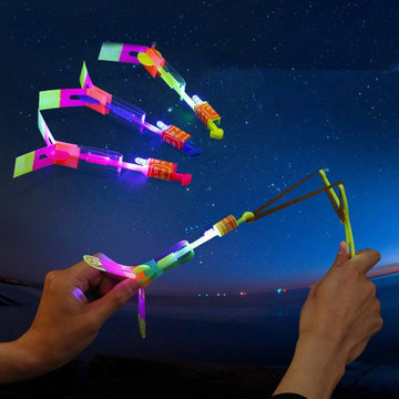 20pcs Amazing LED Flash Rubber Band Helicopter Plane Toy For Kids