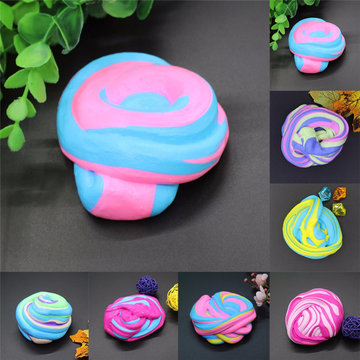60ml Katoen Modder DIY Stress Relief Magic Fluffy Slime Geurd Geen Borax Kids Toy Slib Katoen Mud