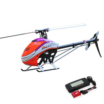 KDS AGILE A5 6CH 3D Flybarless 550 Class Belt Drive RC Helicopter Kit Met EBAR V2 Gyro '