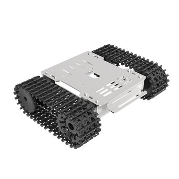 XIAO R MINI Roestvrij staal DIY RC Robot Car Tank Chassis