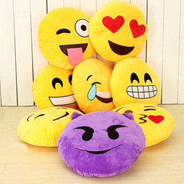 Emoji Smiley Emoticon Geel Rond Pruimen Soft Doll Toy
