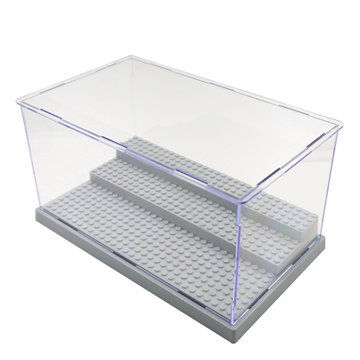 3 Stappen Clear Acryl Display Case Stofdichte Tray Protection Toys DIY Box