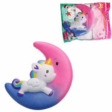 Galaxy Squishy Unicorn Moon Slow Rising met Packaging Collection Gift Decor Scented Toy