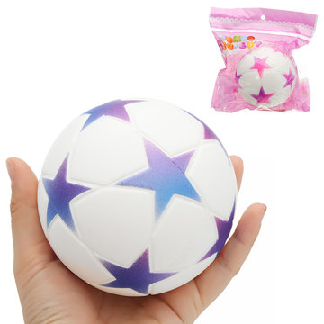 Star Football Squishy 9.5cm Slow Rising With Packaging Collection Soft Speelgoed