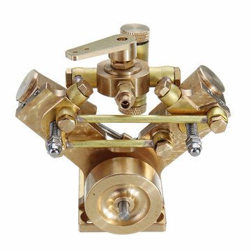 Microcosm Micro Scale M2B Twin-cilinder Marine stoommachine Model Stirling Engine geschenkverzameling