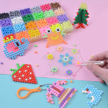 Magic Water Sticky Beads Fuse Kralen Navulling Compatibel met Aquabeads en Beados Art Crafts Toys