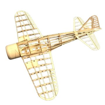 Mini Zero Fighter 400mm Spanwijdte Balsahout Laser Cut RC Vliegtuig KIT