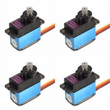 4X MG90D 13g Metal Gear Digital Servo voor RC-modellen