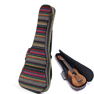 Soft Pad Cotton Folk Style Hand Draagbare tas Case Cover voor 26 inch Ukulele
