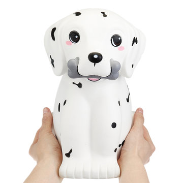 Giggle Bread Giant Squishy Dalmatian Spot Puppy Dog 30cm Lovely Animal Jumbo Gift Decor Collection