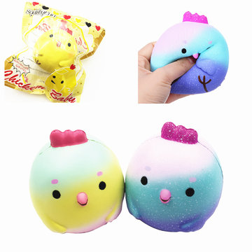 SquishyFun Chick Squishy Chicken 10 cm * 9.5 cm Slow Rising With Packaging Collection Soft Speelgoed