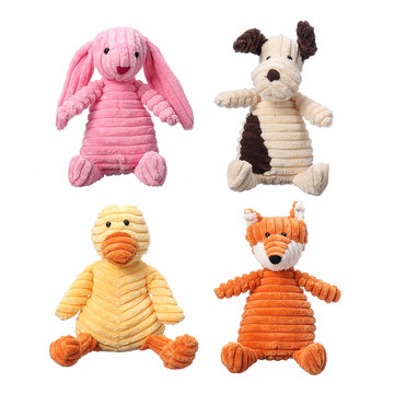23CM Funny Soft Pet Puppy Chew Play Squeaker Squeaky Cute Stuffed Plush Toy