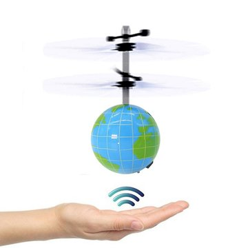 Electric Hand Spinner Infrarood Inductie RC Helicopter Flying Ball Shining LED Aarde Speelgoed voor kinderen