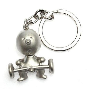 1 PC Creative Silver Mr P Boy Akimbo Sleutelhanger Ketting Fob Gift
