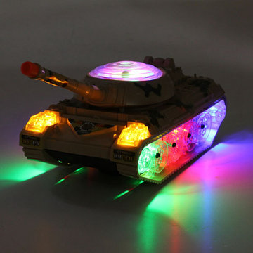 Army Tank Moving Sounding Knipperend Wiel LED Lights Colorful