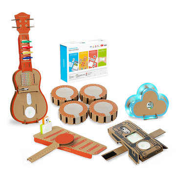 6 In 1 Makeblock STEAM RC Robot Speelgoed Educatief Geschenk Drum Ukelele Armband Cloud Xylofoon