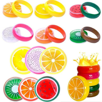 6PCS Crystal Fruit Slime 6x2cm DIY Clay Rubber Mud Intelligent Hand Gum Plasticine Toy Gift