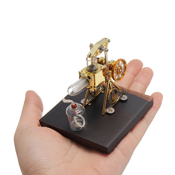 """Mini 2.1 """"Hot Air Flame Stirling Engine Model Collection Gift"""