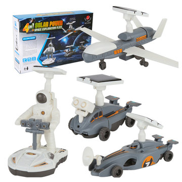 Cute Sunlight STEM 4In1 Zonne-energie Toy Space Exploration Fleet Gift Toys
